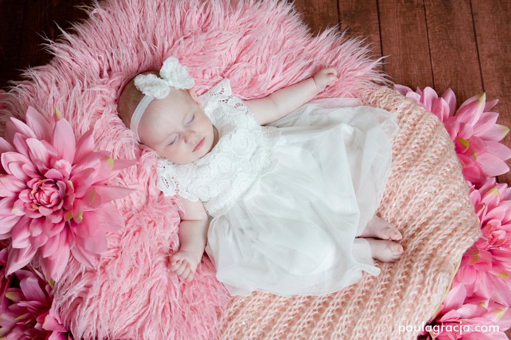 pastelowe zdjęcia niemowlęce